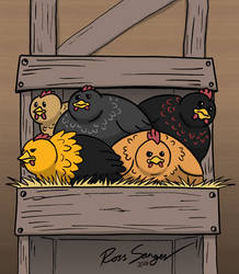 The Broody Bunch by Ross-Sanger