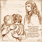 .: Frodo, Sam and Galadriel :.