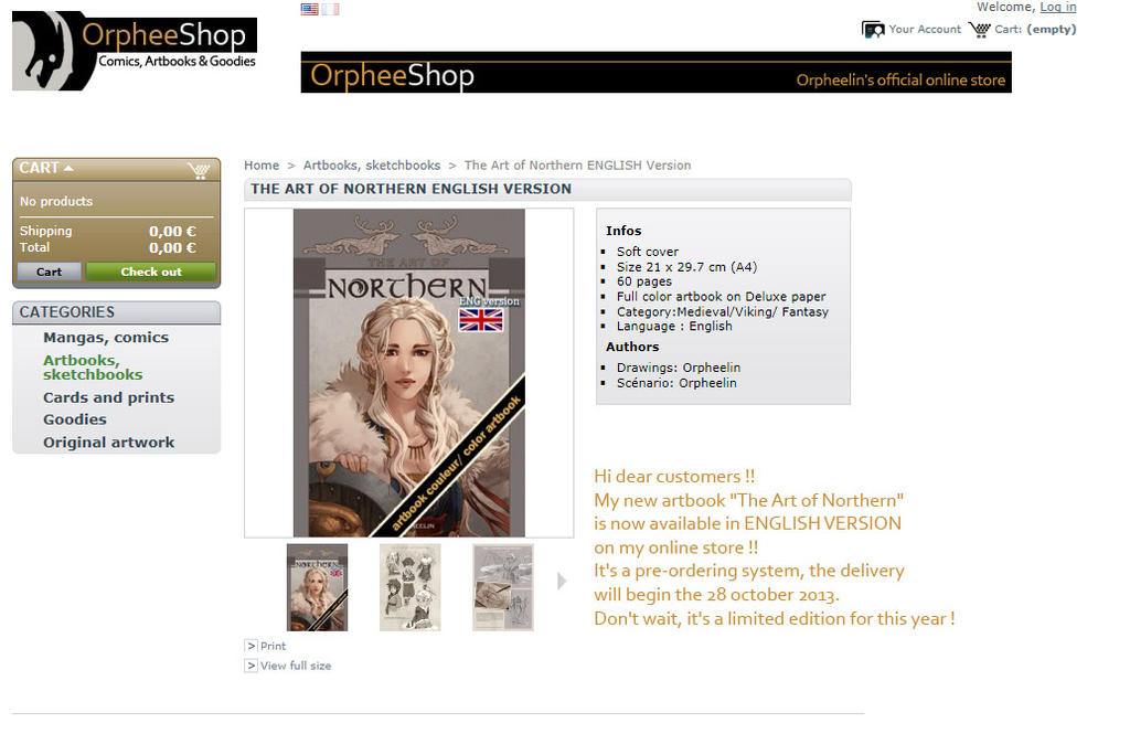 The Art of Northern ENGLISH version for sale by Orpheelin