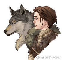 Arya and Nymeria