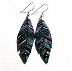 clay feather earrings