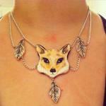 Clay Fox Necklace