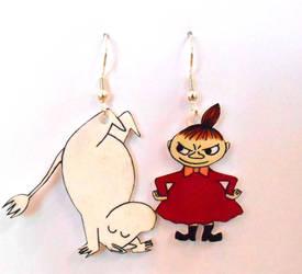 Moomin Earrings by JuniperJewelry