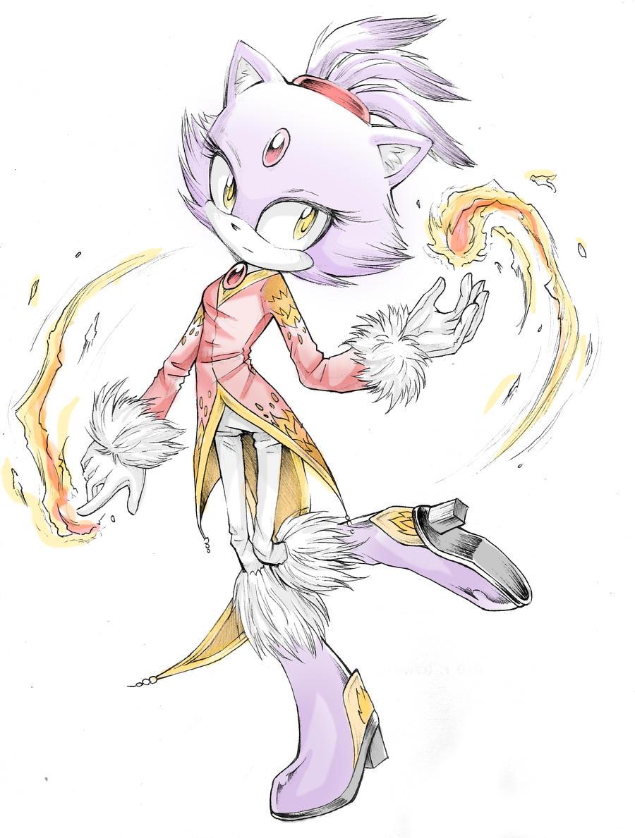 Blaze the Cat - Queen of fire by Z-N-K
