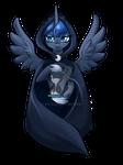 Luna with a hourglass