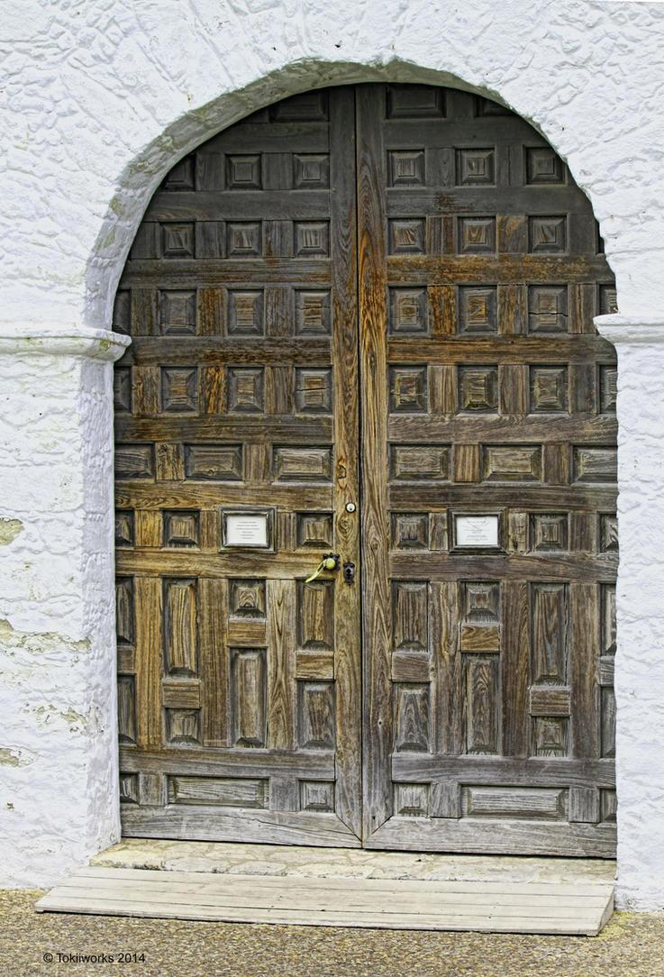Goliad Chapel Door, Goliad, TX by TokiiWorks