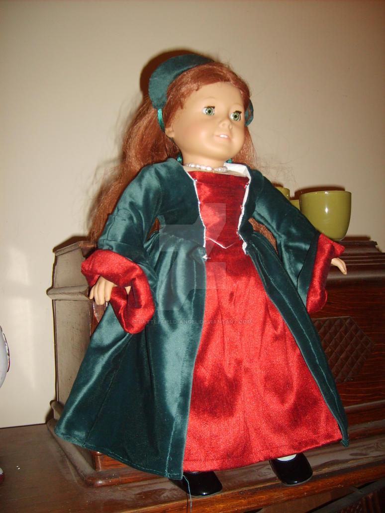 Tudor doll dress by Battlefield-Angel