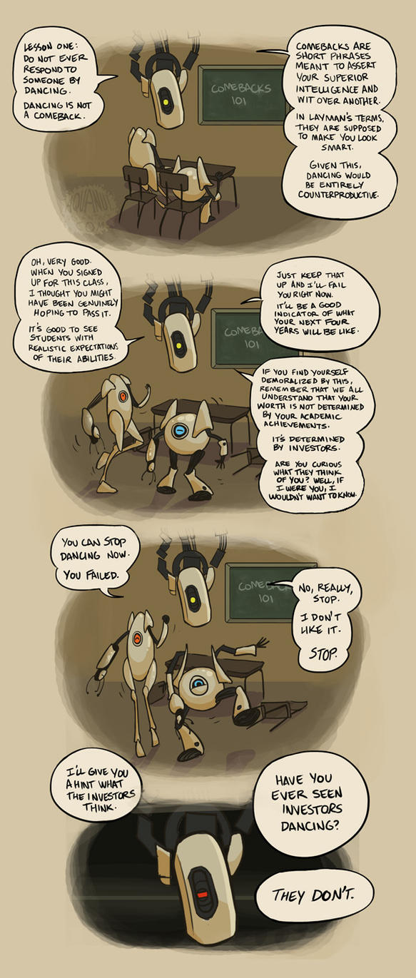 Prof. GLaDOS: Comebacks 101 by aquanut