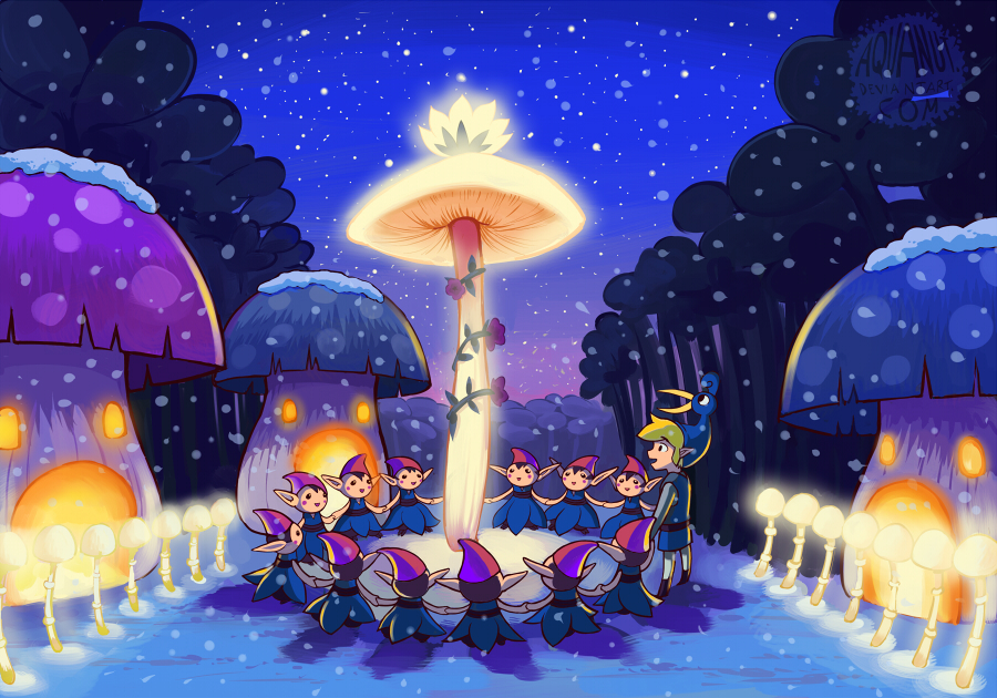 Merry Christmas, Minish Village by aquanut