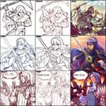 Fire Emblem Artist Switch Meme w Garmmy + Harby