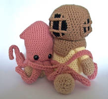 Deep Sea Diver and Squid