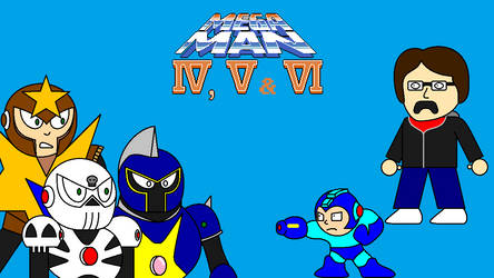 Mega Man 4, 5, and 6 Title Screen by FreeNintendo21