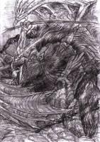 Fingon battles Gothmog by lomehir