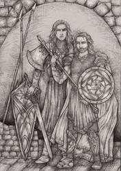 Hurin and Huorn by lomehir
