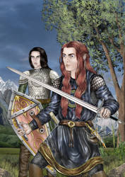 Maedhros and Maglor - colored by lomehir
