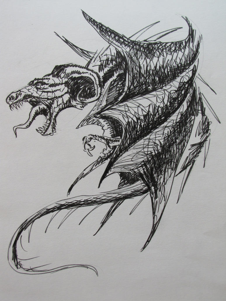 Dragon Sketch By Lucbannon On DeviantArt