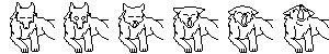 Yawning Wolf Icon Base