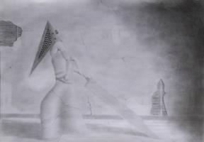 Silent Hill pyramid head fan art