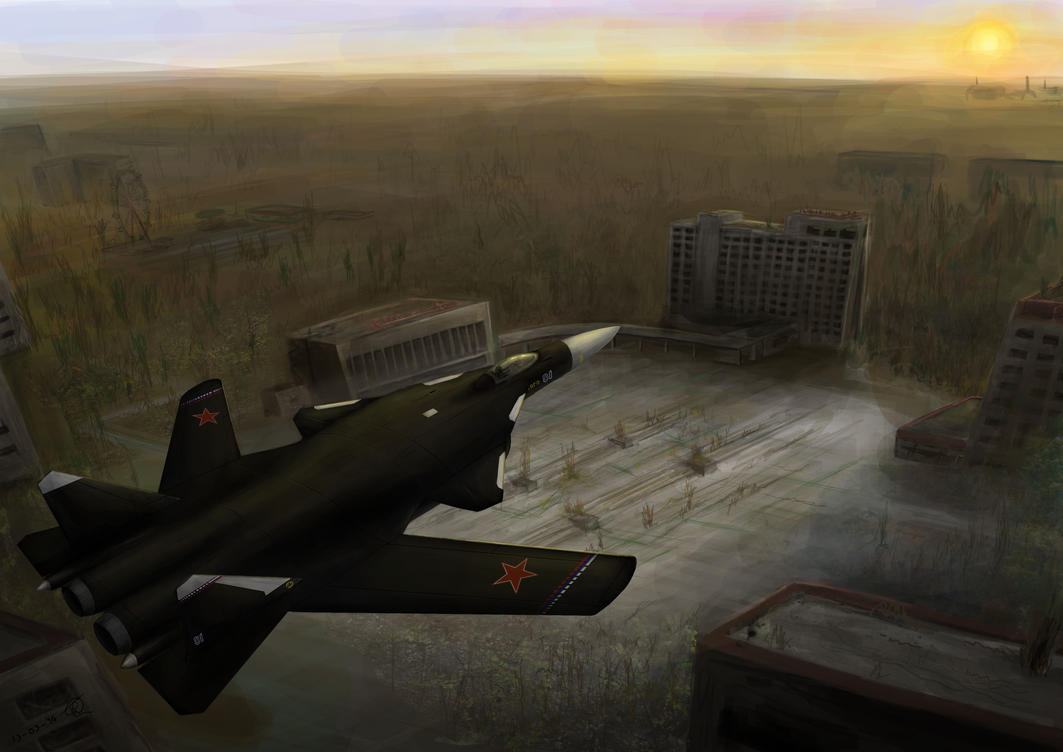 Berkut over Pripyat by PhanThom-art