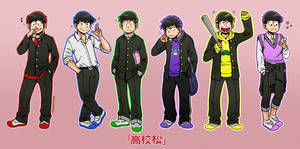 High School Matsu by kitsune999