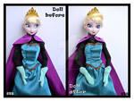 repainted ooak elsa of arendelle doll from frozen.