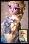 frozen ooak snow queen elsa doll.