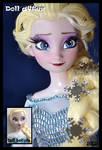 frozen ooak snow queen elsa doll.