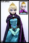 ooak coronation elsa doll from frozen.