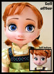WIP - the sky's awake. little anna ooak doll.