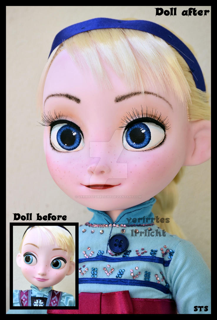the sky's awake. repainted little elsa ooak doll. by verirrtesIrrlicht