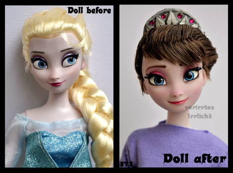 repainted ooak frozen queen idun of arendelle.