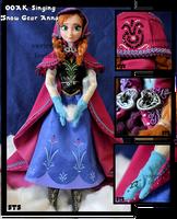 repainted ooak singing anna of arendelle doll. by verirrtesIrrlicht