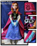 repainted ooak singing anna of arendelle doll.