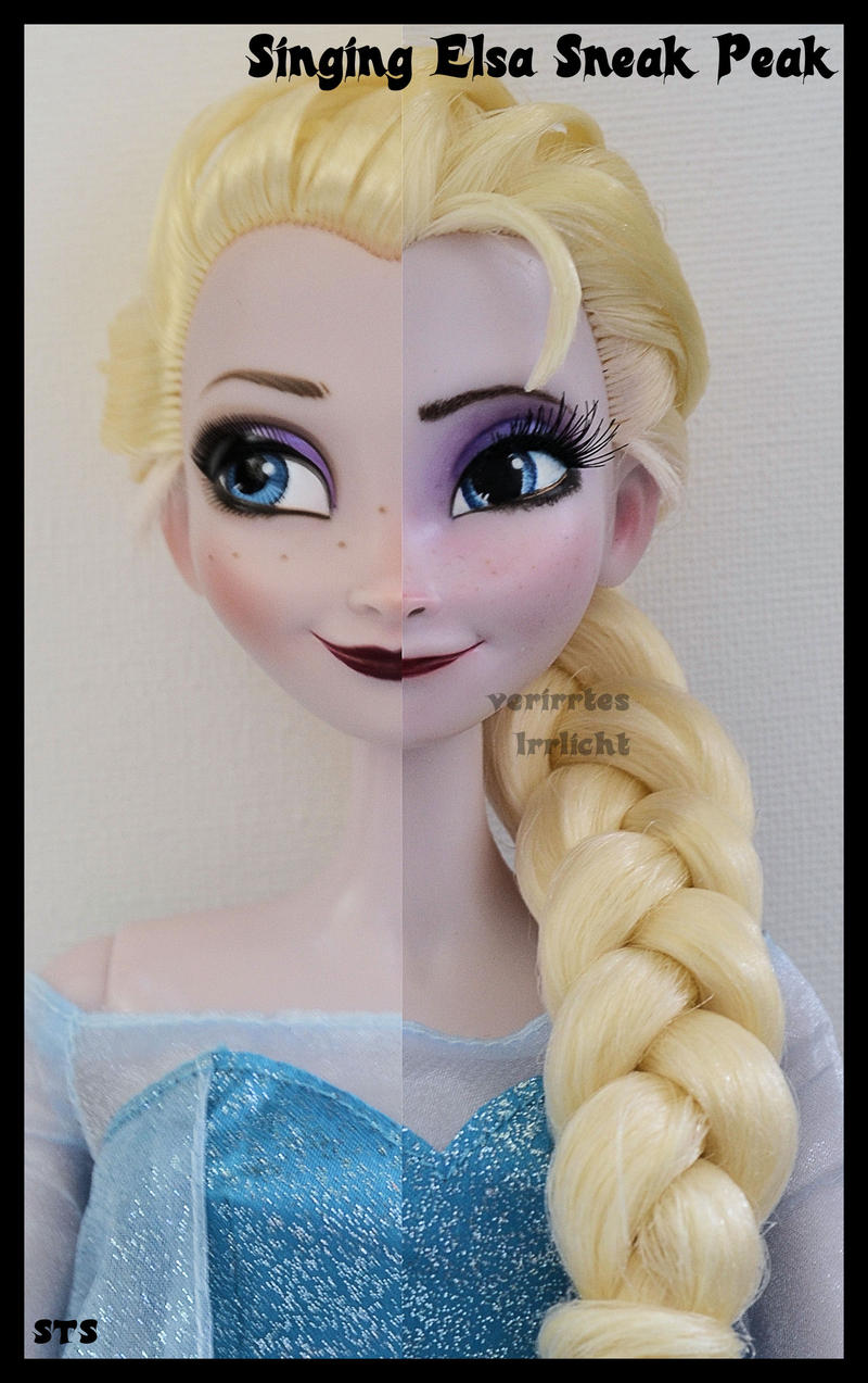 repainted ooak singing snow queen elsa sneak peek. by verirrtesIrrlicht