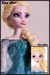 wip - repainted ooak singing snow queen elsa.