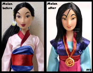 repainted ooak mulan - the girl who saved china. by verirrtesIrrlicht