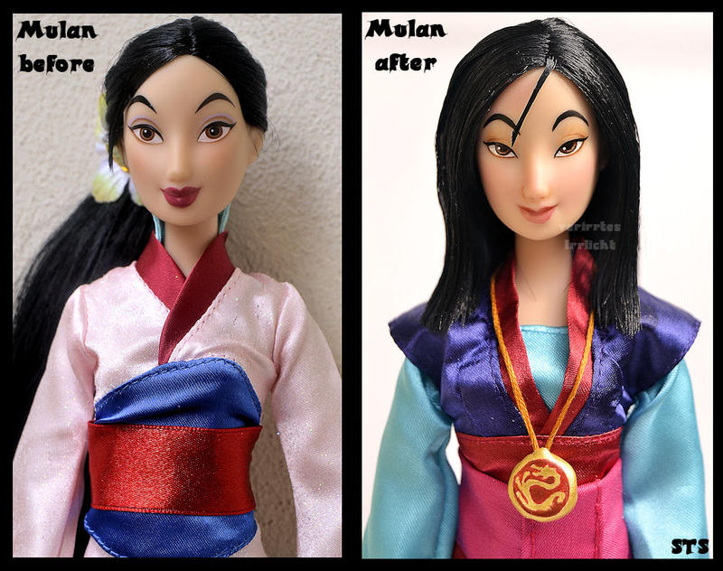 Repainted Ooak Mulan The Girl Who Saved China By