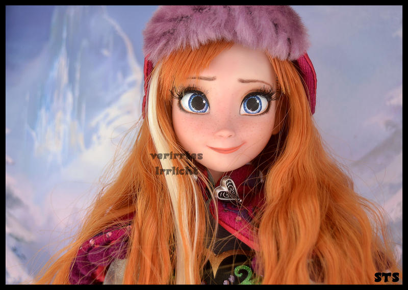 wip - ooak repainted nordic singing anna doll. by verirrtesIrrlicht