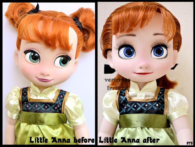 repainted ooak animators anna doll. by verirrtesIrrlicht