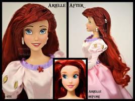 ooak repainted ariel doll. by verirrtesIrrlicht