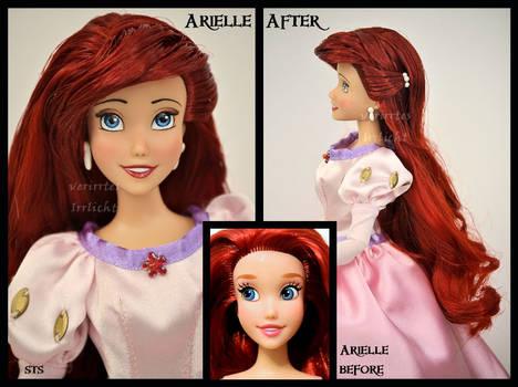 ooak repainted ariel doll.