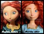 repainted ooak merida doll. - close up.