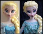 cartoon elsa ooak doll. - if frozen had been 2d.