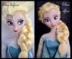 repainted ooak elsa doll. - dreamy snow queen.