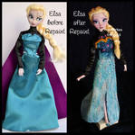 repainted ooak tranformation elsa.