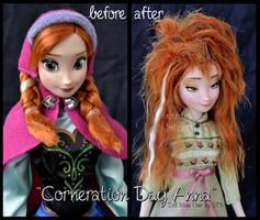 repainted ooak corneration day sleepy anna doll.