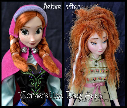 repainted ooak corneration day sleepy anna doll.