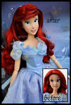 repainted ooak ariel doll. - ready for the ball.