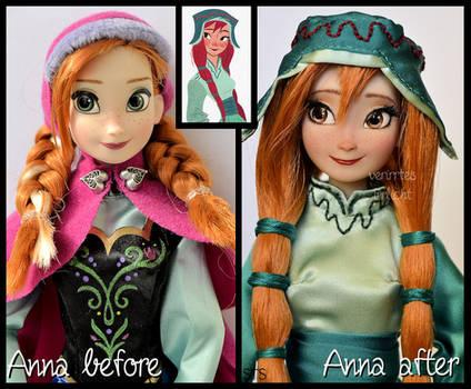 repainted ooak concept art anna doll. - gerda.