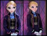 repainted ooak teenie elsa limited edition doll.
